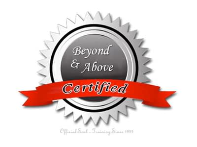 Beyond & Above Certified